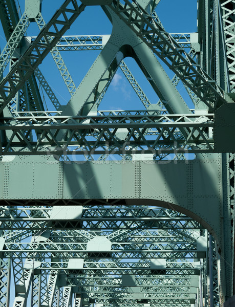 Truss bridge, Jacques Cartier Bridge, Montreal, Quebec, Canada Stock photo © bmonteny