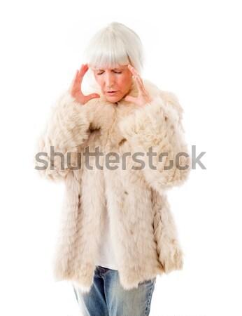 Senior woman pretesting something Stock photo © bmonteny