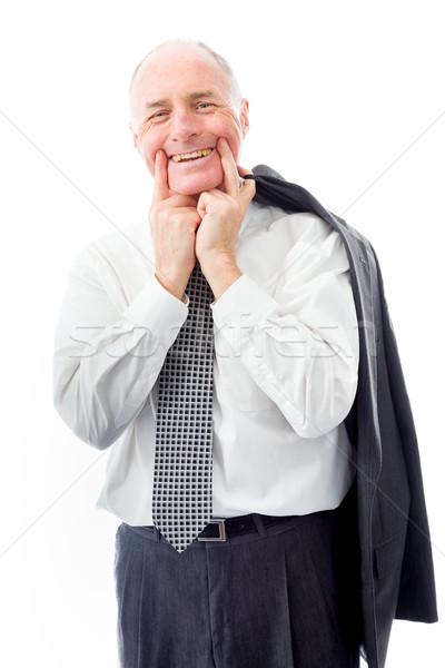 ビジネスマン 笑顔 楽しい 面白い マネージャ ストックフォト © bmonteny