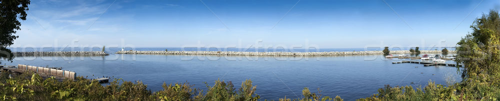 Stock photo: Panoramic view of harbor, River St Lawrence, Ontario, Canada