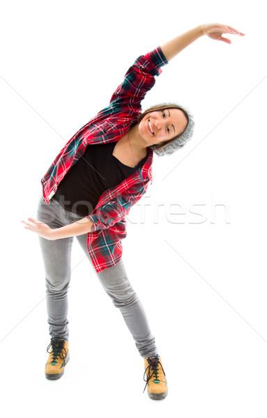 Young woman exercising Stock photo © bmonteny