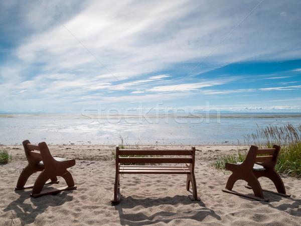 Strand Quebec Canada water natuur landschap Stockfoto © bmonteny