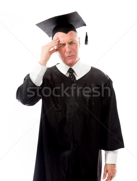 Senior masculino pós-graduação educação preto Foto stock © bmonteny