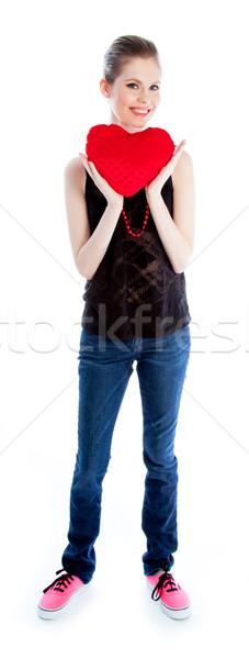 Attractive caucasian girl in her 30 shot in studio Stock photo © bmonteny