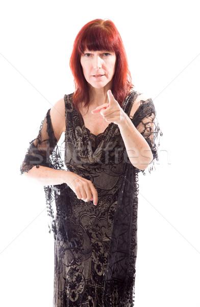 Mature woman scolding Stock photo © bmonteny