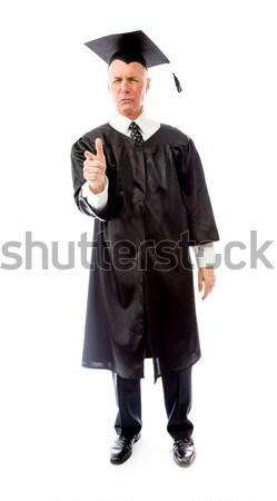 Senior masculino pós-graduação em pé educação Foto stock © bmonteny