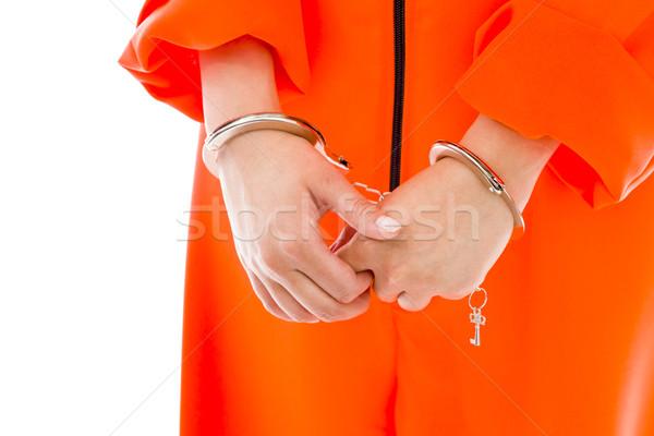 Asian jeune femme uniforme femme orange Photo stock © bmonteny