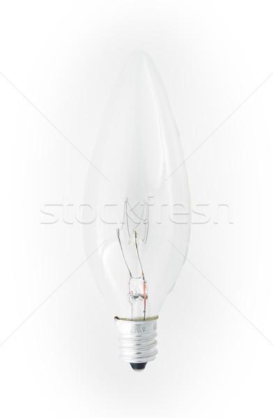 люстра лампочка изолированный белый Сток-фото © bmonteny