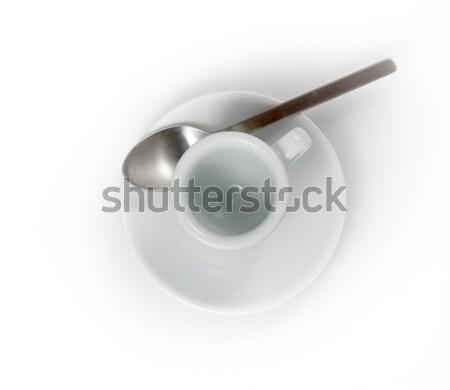 пусто эспрессо Кубок блюдце изолированный белый Сток-фото © bmonteny