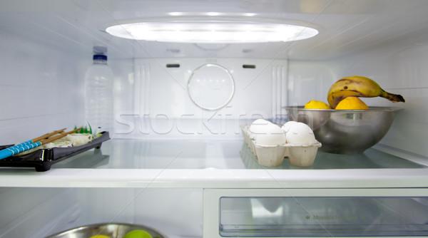 Food in refrigerator Stock photo © bmonteny