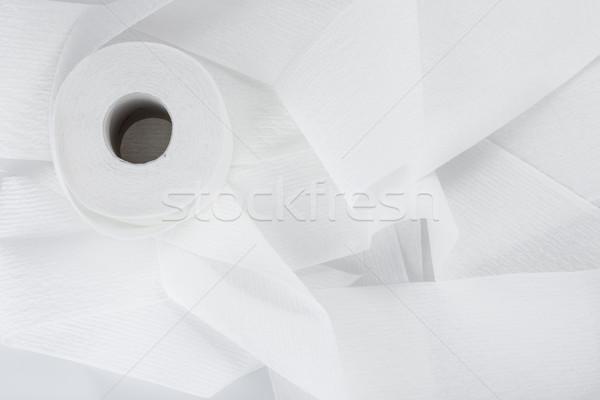 Rotolare carta igienica isolato bianco Foto d'archivio © bmonteny