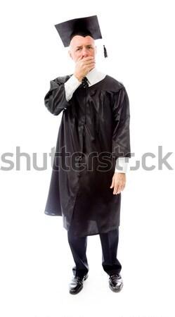 старший мужчины выпускник улыбаясь образование черный Сток-фото © bmonteny