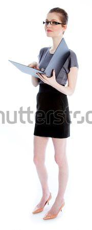 привлекательный кавказский девушки 30 выстрел студию Сток-фото © bmonteny