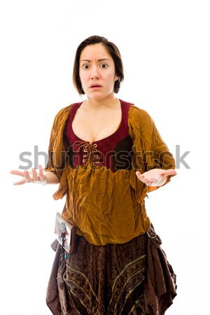 Young woman standing in prayer position Stock photo © bmonteny