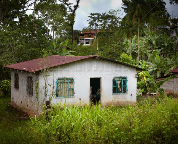 Fachada casa pueblo Costa Rica árbol edificio Foto stock © bmonteny
