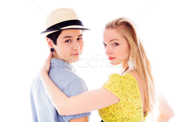 Lesbian couple romancing Stock photo © bmonteny