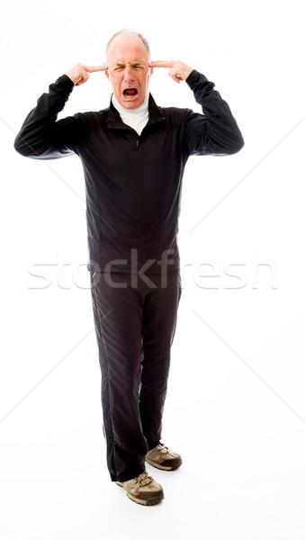 シニア 男 頭痛 歳の男性 ストックフォト © bmonteny