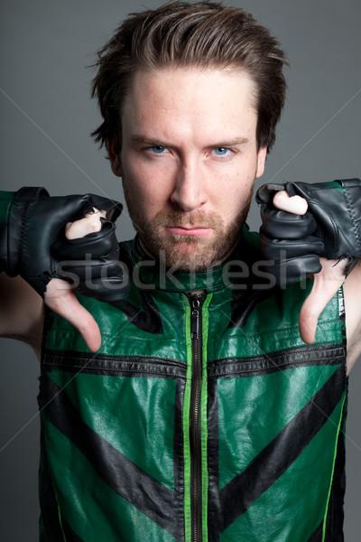 Vonzó kaukázusi férfi lövés stúdió 30 éves Stock fotó © bmonteny