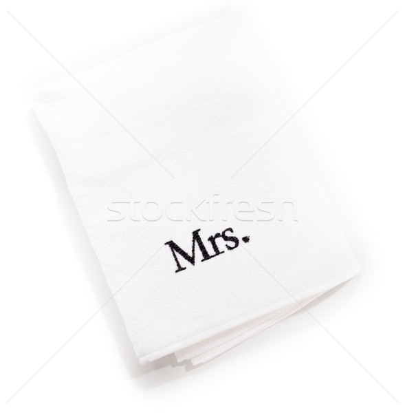 mrs white towels isolated on a white background Stock photo © bmonteny