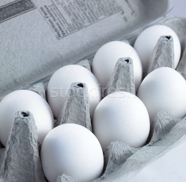 Close-up of eggs in a box Stock photo © bmonteny