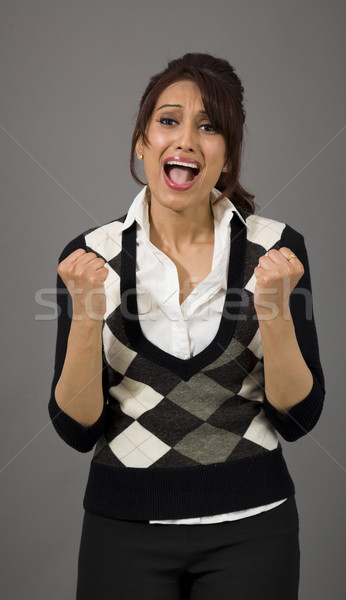 Stock photo: Indian businesswoman looking frustrated and worried