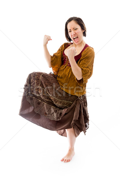 Young woman celebrating success Stock photo © bmonteny