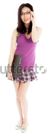 Young woman suffering from headache with carrying exercise mat Stock photo © bmonteny
