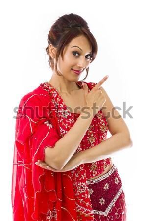 Jóvenes indio mujer cara sonriente adulto Foto stock © bmonteny