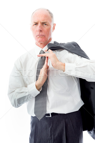 Businessman showing time out sign with hands Stock photo © bmonteny
