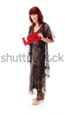 Rejected mature woman in love shot in studio isolated on a backg Stock photo © bmonteny