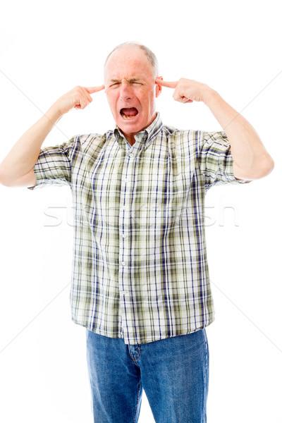 Senior uomo frustrazione comunicazione energia Foto d'archivio © bmonteny