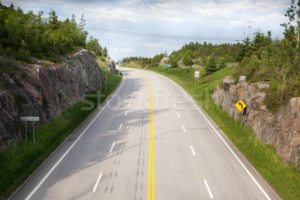 Yol manzara Quebec Kanada ağaç doğa Stok fotoğraf © bmonteny