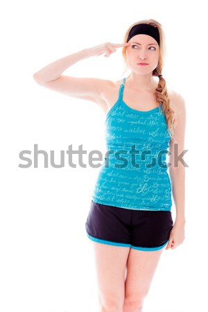 Young woman pretesting something Stock photo © bmonteny