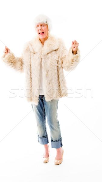 シニア 女性 見える 興奮した 楽しい 喜び ストックフォト © bmonteny