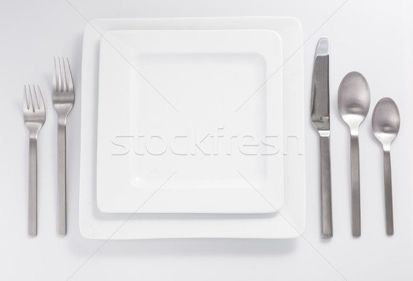 cutlery and disheware isolated on a white background Stock photo © bmonteny