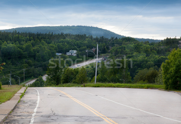 Stok fotoğraf: Yol · orman · Quebec · Kanada · ağaç · doğa