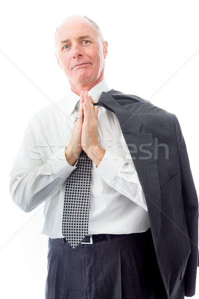 Businessman greeting with hands clasped Stock photo © bmonteny