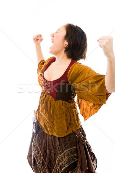 éxito caucásico mujer Foto stock © bmonteny
