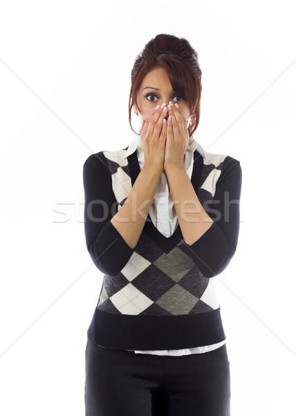 Indian businesswoman looking shocked Stock photo © bmonteny