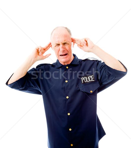 Politieagent naar politie pijn permanente Stockfoto © bmonteny