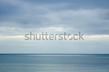Panoramik görmek deniz gökyüzü doğa bulut Stok fotoğraf © bmonteny