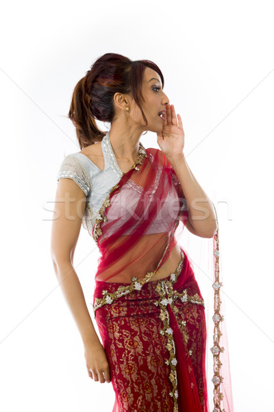 Young Indian woman whispering Stock photo © bmonteny