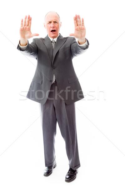 üzletember tömés kézmozdulat menedzser düh áll Stock fotó © bmonteny