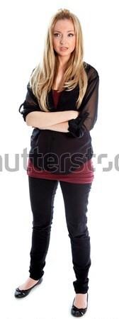 Atrakcyjny blond 30 lat starych dziewczyna Zdjęcia stock © bmonteny
