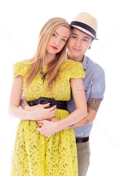 Lesbian couple embracing Stock photo © bmonteny