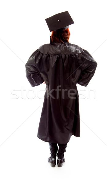 背面図 成熟した 学生 立って 女性 教育 ストックフォト © bmonteny