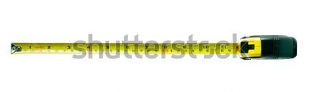 Mètre à ruban isolé blanche Photo stock © bmonteny