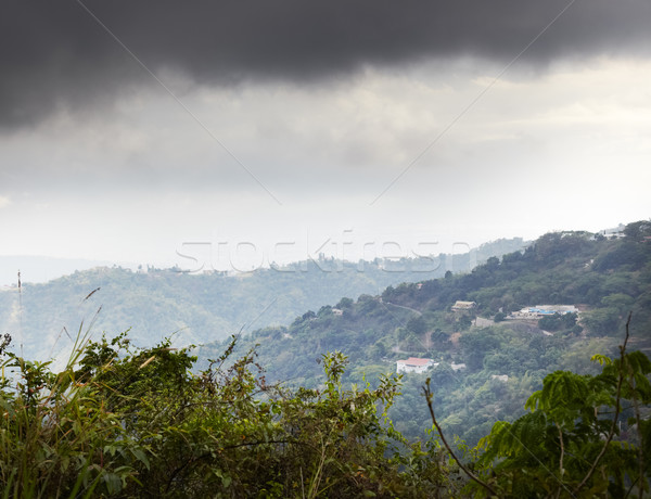 Clouds over a mountain range, Jamaica Stock photo © bmonteny