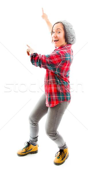 Mulher jovem em pé algo caucasiano Foto stock © bmonteny
