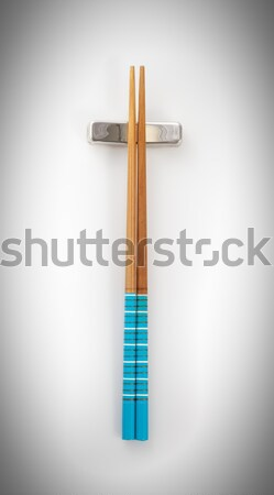 top view chopsticks isolated on a white background Stock photo © bmonteny
